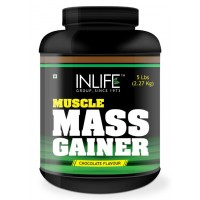 INLIFE Mass Gainer Protein Powder 5 lbs, Chocolate Flavor, Muscle & Weight Gain