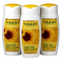 Vaadi Herbals Value Pack Of 3 Hand & Body Lotion With Sunflower Extract