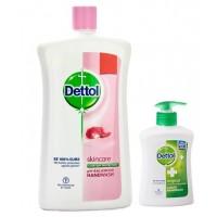 Dettol Skincare pH-Balanced Handwash (900 ml) + Free Original Liquid Handwash Pump (215ml)