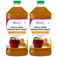 St.Botanica Apple Cider Vinegar With Honey - Natural With Goodness of Mother of Vinegar - 500ml x 2
