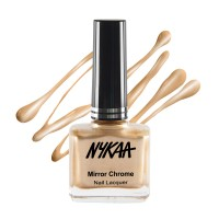 Nykaa Mirror Chrome Nail Lacquer - Sun-Kissed Gold 166