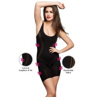 Clovia Body Shaping Suit In Black