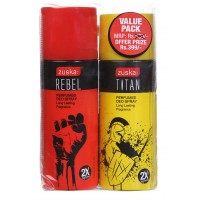 Zuska Perfumed Deo Spray Value Pack - Rebel and Titan