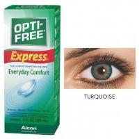 Freshlook 30 Day Lens Turquoise + Free 120ml Lens Solution