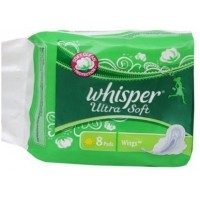 Whisper Ultra Soft Sanitary Pads Large Wings Size 8 pc pack