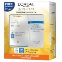 L'Oreal Paris UV Perfect Anti Dullness + White Perfect Facial Foam Worth Rs. 225/-