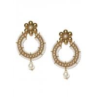Fida Gold Mriganka Pearl Drop Earrings