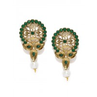 Fida Green Floral Earring