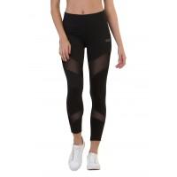 Silvertraq Women's Mesh Cross Leggings Black