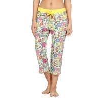 Nuteez 'Flower Power' Capri - Natural (Yellow)