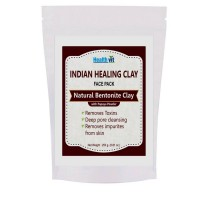HealthVit Indian Healing Clay Bentonite Clay With Pappaya Powder