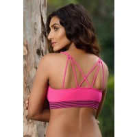 Zivame Made To Layer Strappy Back Double Layered Bralette- Fuchsia