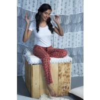 Zivame Cotton CoZzzies Melon Pyjama-  Red