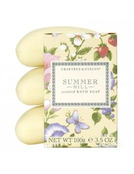 Crabtree & Evelyn Summer Hill Soap Set (3 Pcs Set)