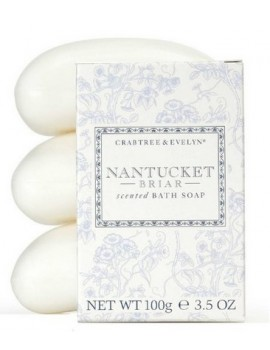 Crabtree & Evelyn Nantucket Briar Scented Bath Soap (Pack of 3)