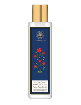 Forest Essentials Silkening Shower Wash Indian Rose Absolute