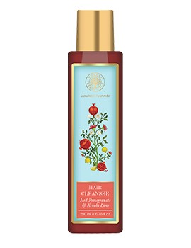 Forest Essentials Hair Cleanser Iced Pomegranate With Fresh Kerala Lime