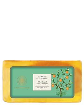 Forest Essentials Luxury Sugar Soap Whole Loofah Scrub Lemongrass