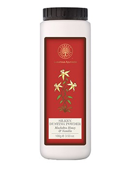 Forest Essentials Silken Dusting Powder Mashobra Honey & Vanilla