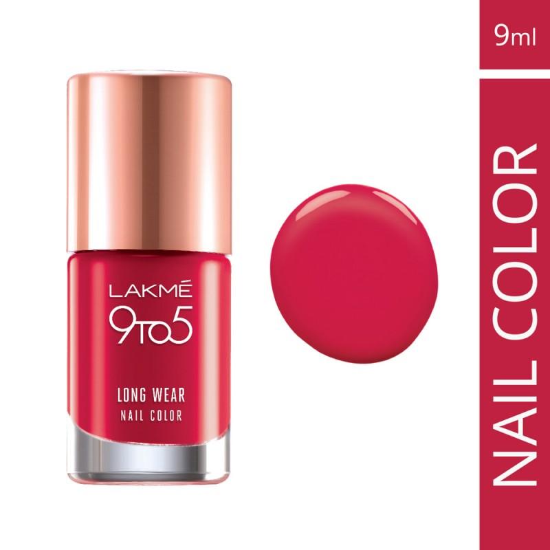 Lakme Nail Polish - Buy Lakme 9 to 5 Long Wear Nail Color - Red ...