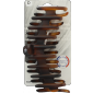 Buy Elite Models ABC5325C Claw Hair Clip (Made In France) - Matte Brown - Nykaa