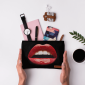 Buy DailyObjects La Bouche Red Carry-All Pouch Medium - Nykaa