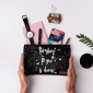 Buy DailyObjects Too Glam To Give A Damn Silver Carry-All Pouch Medium - Nykaa