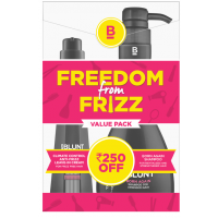BBLUNT Climate Control Leave In Cream + Born Again Shampoo For Stressed Hair Combi Pack Rs.250 Off