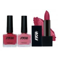 Nykaa Aura Lipstick & Nail Combo