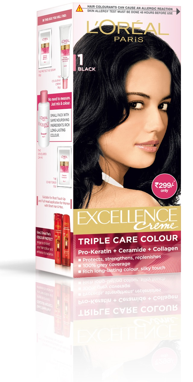 L'Oreal Paris Excellence Creme Hair Color - 1 Black  available at Nykaa for Rs.299
