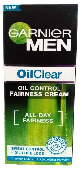 Garnier Men Oil Clear Oil Control Fairness Cream  available at Nykaa for Rs.180