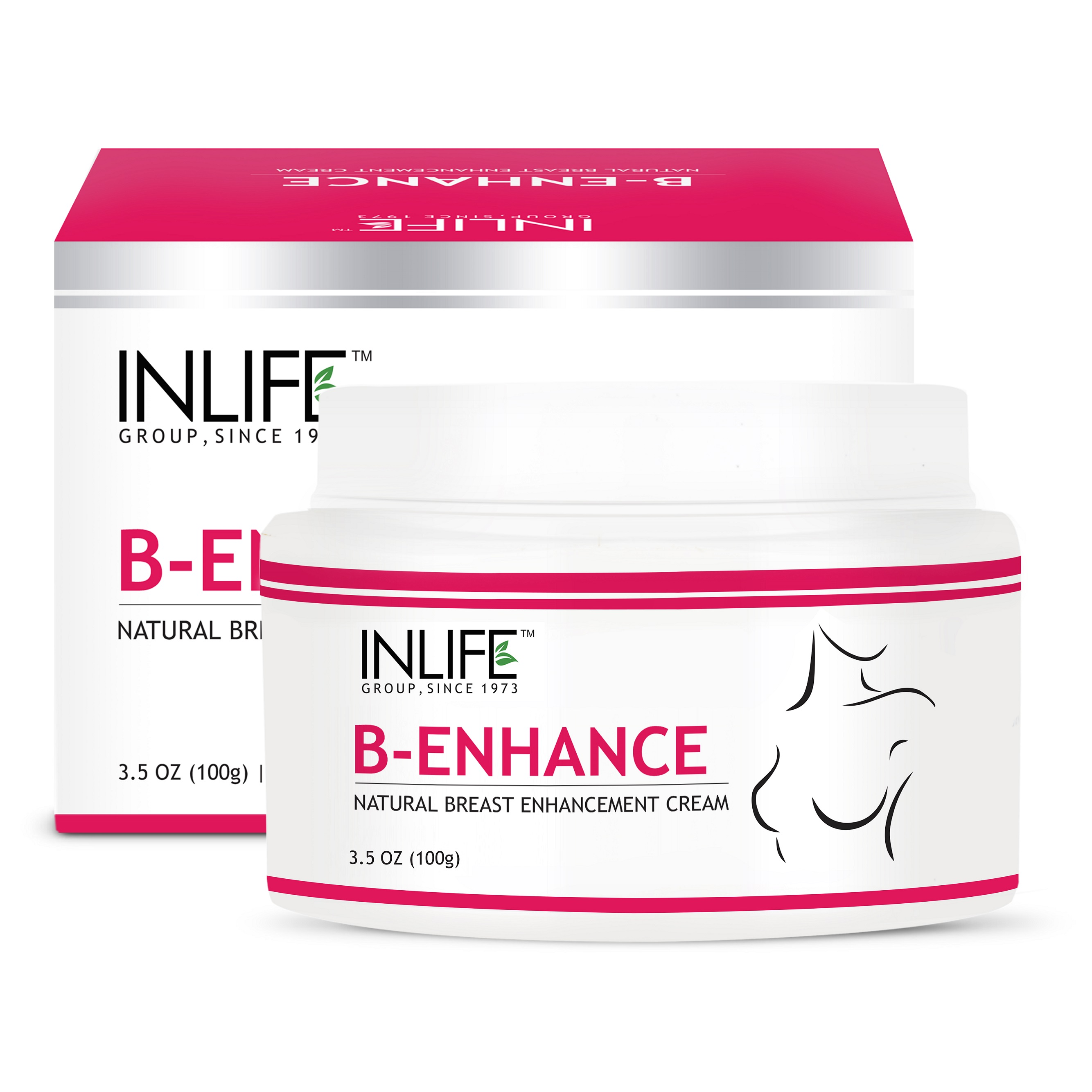 INLIFE Natural Breast Enlargement Cream For Improvement in Breast Size  available at Nykaa for Rs.405