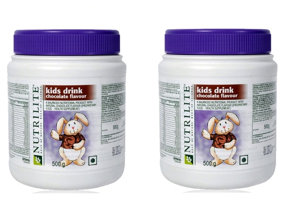 Amway Nutrilite Kids Drink Chocolate - 500 grms, Pack of 2  available at Nykaa for Rs.1751