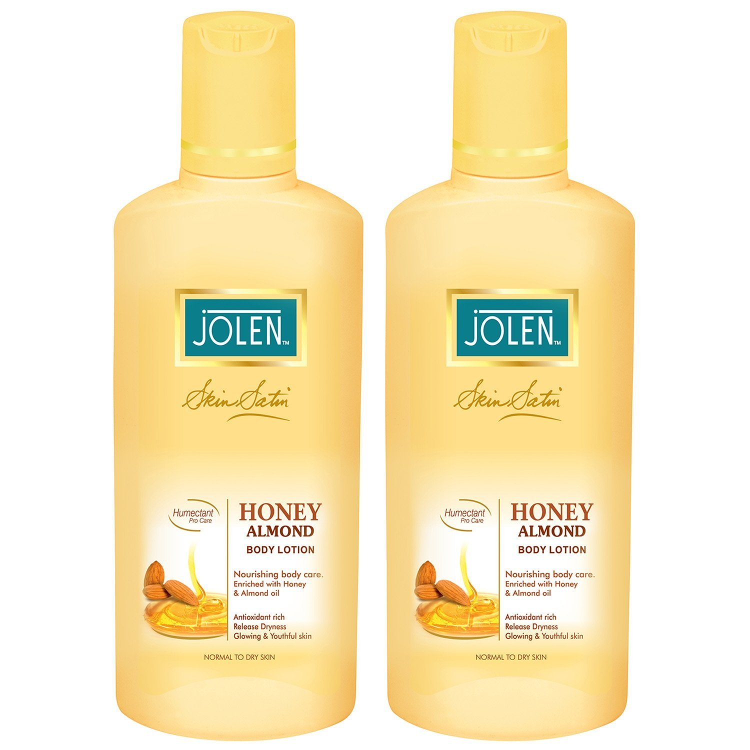 Jolen Honey & Almond Lotion Twin Pack (25% Extra)  available at Nykaa for Rs.220