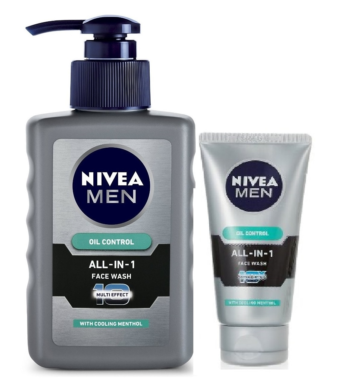 Nivea Oil Control All In One Face Wash Pump + Free Men All In One Face Wash  available at Nykaa for Rs.196