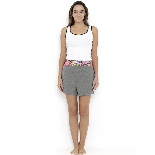 Heart 2 Heart Aster Shorts - Grey Melange  available at Nykaa for Rs.459