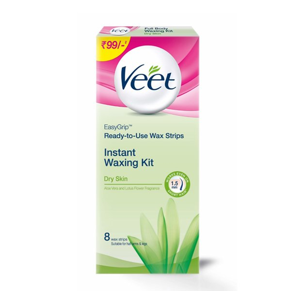 Veet Full Body Waxing Kit for Dry Skin - 8 Strips  available at Nykaa for Rs.89
