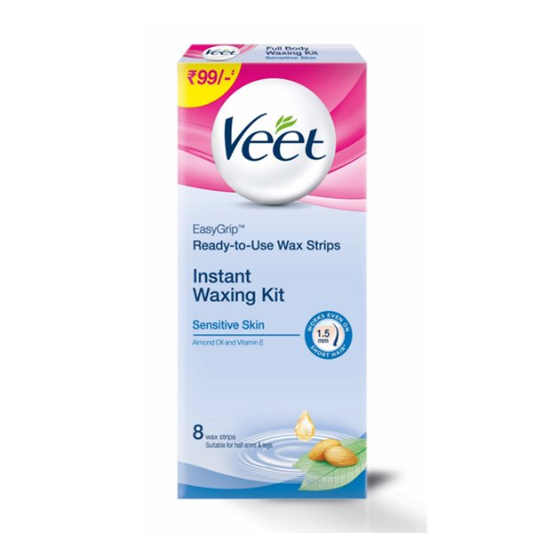 Veet Full Body Waxing Kit for Sensitive Skin - 8 Strips  available at Nykaa for Rs.89