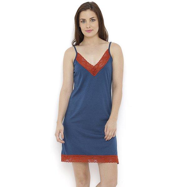 Heart 2 Heart Batiq Nightdress - Navy (M)