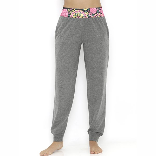 Heart 2 Heart Aster Pajama with Ankle Cuff - Grey Melange  available at Nykaa for Rs.689
