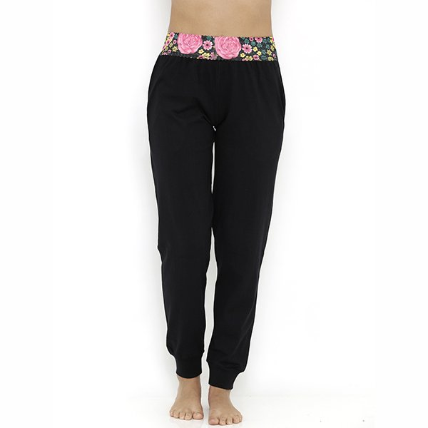 Heart 2 Heart Aster Pajama with Ankle Cuff - Black  available at Nykaa for Rs.689