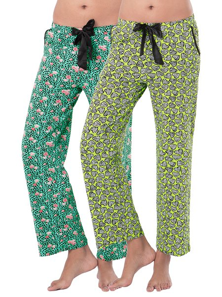 PrettySecrets Cotton Supersoft Pajamas (Pack of 2) - Multicolor - 43