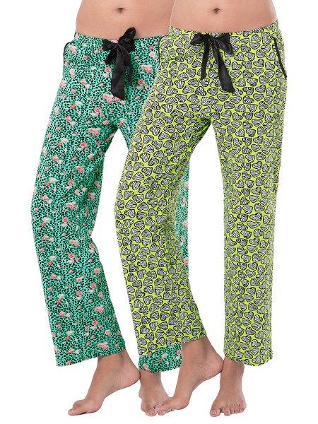 PrettySecrets Cotton Supersoft Pajamas (Pack of 2) - Multicolor - 43