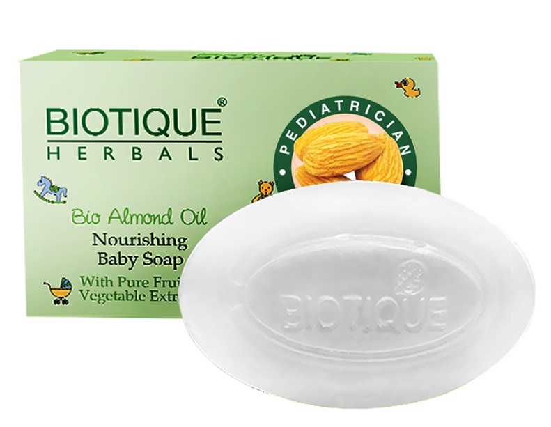 Biotique Bio Almond Oil Nourishing Baby Soap With Pure Fruit & Vegetable Extracts  available at Nykaa for Rs.47