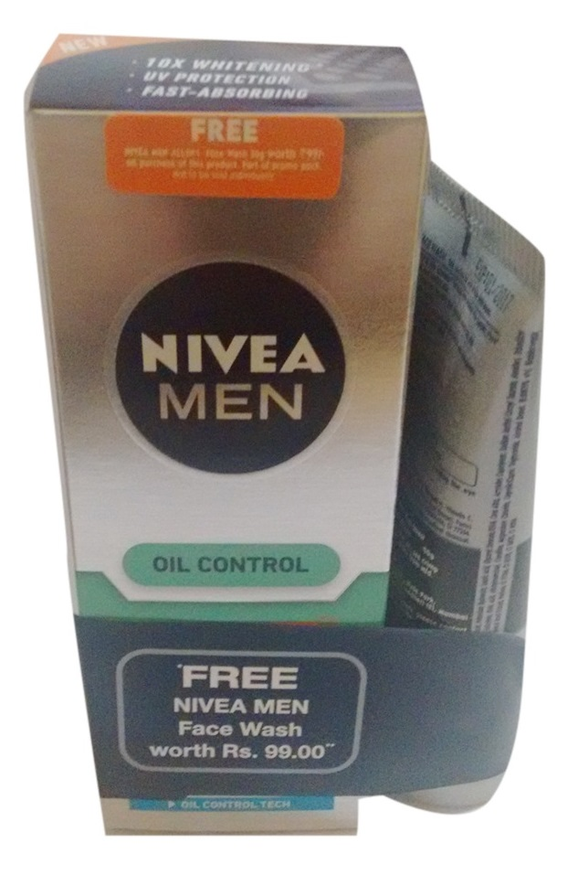Nivea Men Oil Control Moisturiser + Free All In One Face Wash (50gm)  available at Nykaa for Rs.162