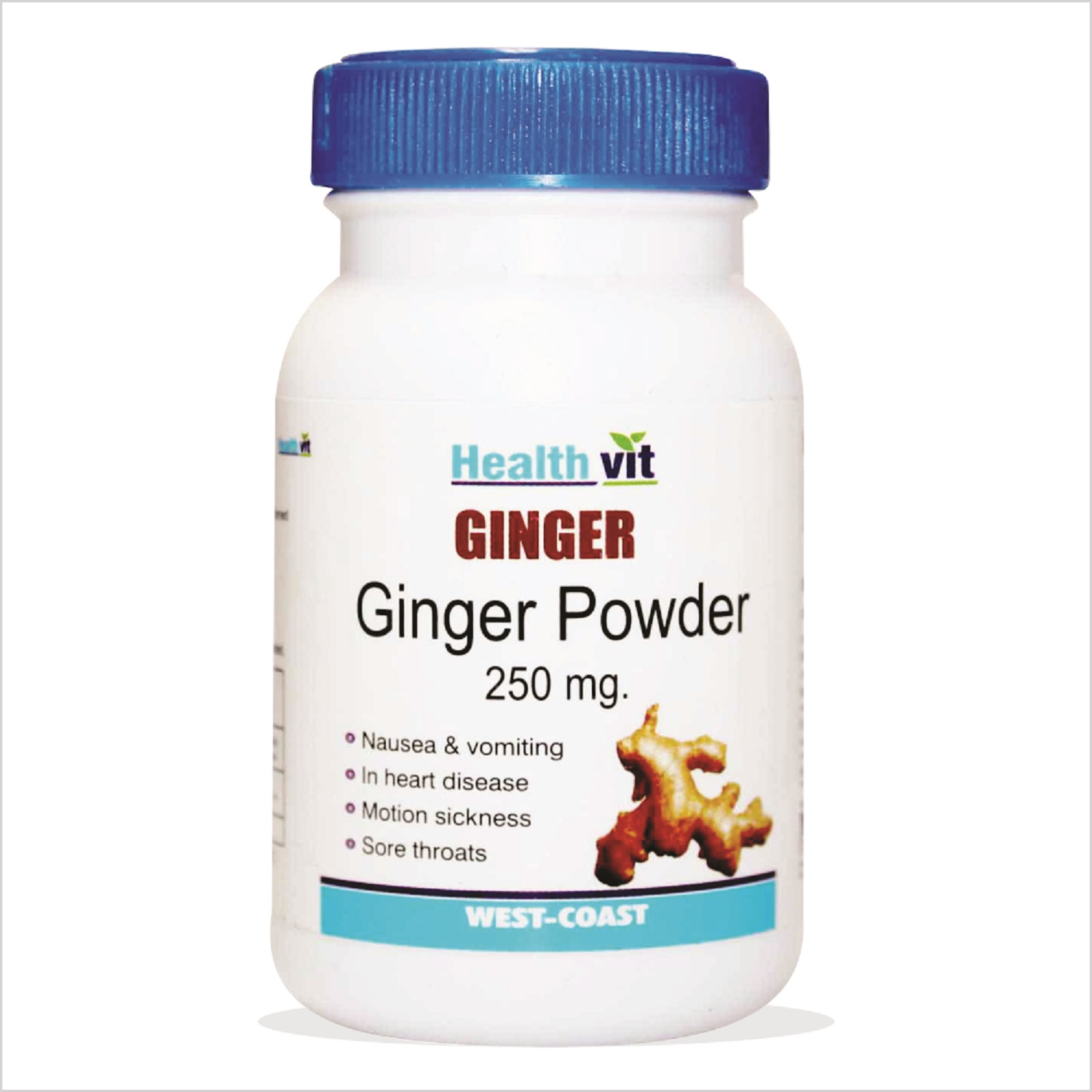 HealthVit Ginger Powder 250 mg (60 Caps)  available at Nykaa for Rs.96