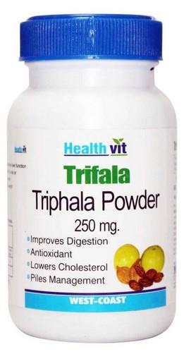 Healthvit Trifala Triphala Powder 250mg (60 Caps)  available at Nykaa for Rs.90