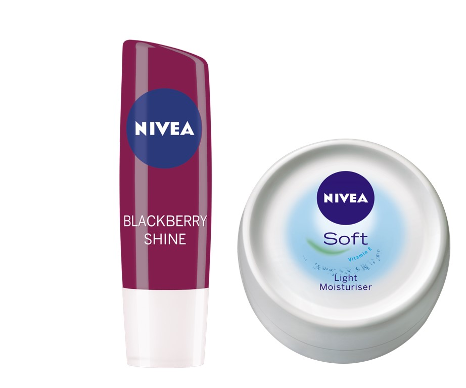Nivea Lip Care Fruity Shine - Blackberry + Free Soft Light Moisturiser  available at Nykaa for Rs.185
