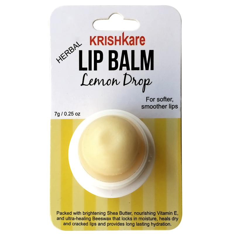 Krishkare Herbal Lemon Drop Lip Balm  available at Nykaa for Rs.139