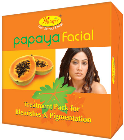 Natures Essence Papaya Facial Kit Mini + Free face wash Worth Rs.65 inside this pack